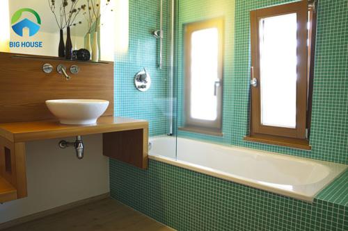 gạch ốp nhà tắm màu xanh 3