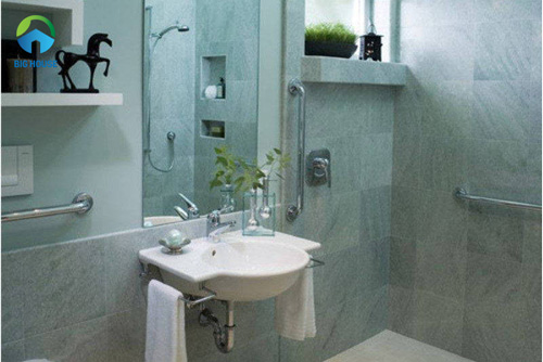 gạch ốp nhà tắm màu xanh 6