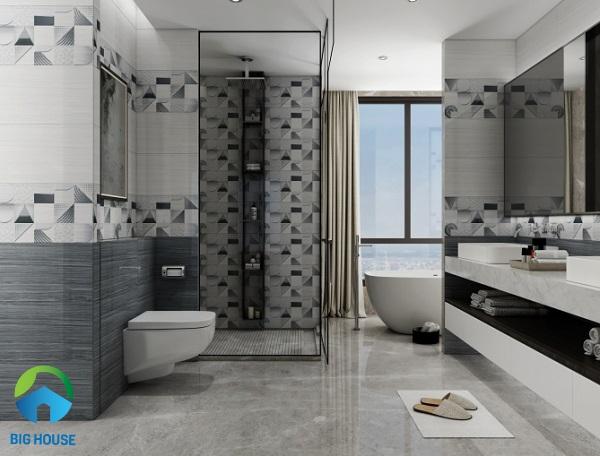 Bộ gạch ốp nhà vệ sinh KT 3664 của Viglacera