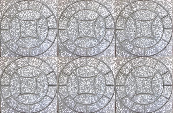 mẫu gạch terrazzo lát vỉa hè hình đồng tiền