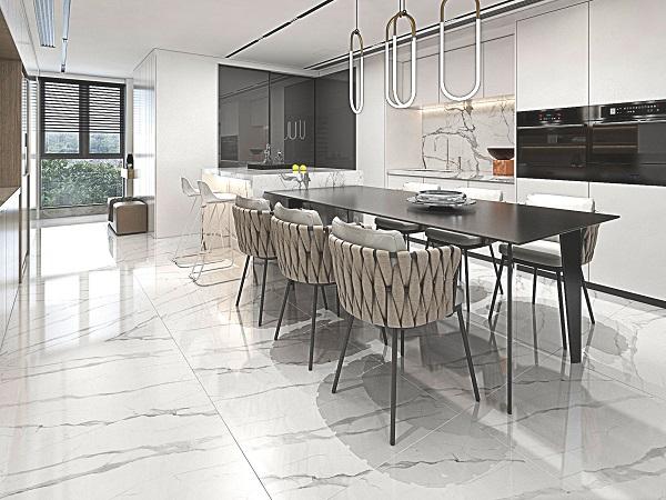 Mẫu gạch vân đá marble Ý Mỹ F88006R sở hữu vẻ đẹp vô cùng sống động, chân thực