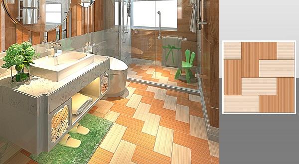 Mẫu gạch vân gỗ Ý Mỹ Y6023 với họa tiết vân gỗ 2 màu