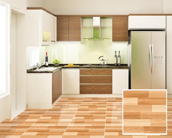 Mẫu gạch granite 600x600 Ý Mỹ EN69006 giả gỗ nâu, mang vẻ đẹp ấm cúng và cổ điển
