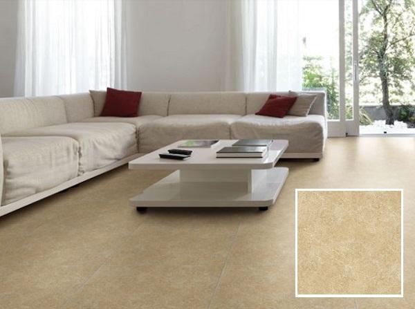 Mẫu gạch Đồng Tâm 6060BINHTHUAN003 đẹp sang trọng với tông màu nâu kem vân đá