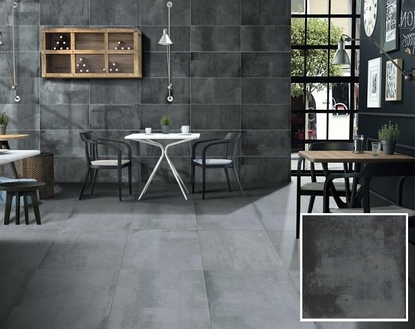 Mẫu gạch lát nền granite 600x600 Taicera G68824 màu ghi đậm, có độ cứng cao