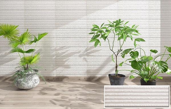 gạch thẻ ốp tường màu trắng ngoại thất