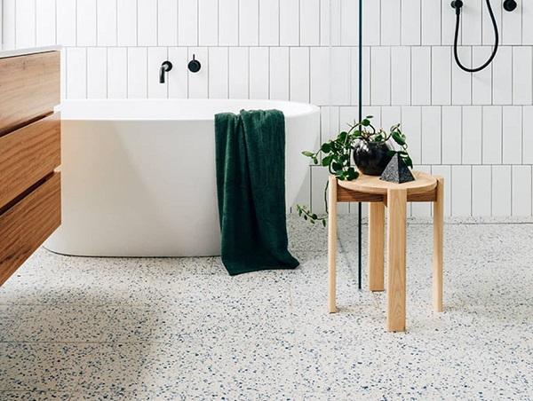 mẫu gạch thẻ màu trắng cho nhà tắm