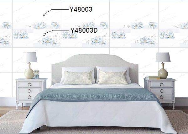 bộ gạch ốp phòng ngủ đẹp Ý Mỹ Y48003