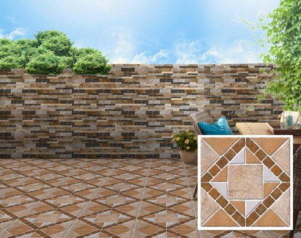 gạch lát 60x60 nhám prime 09907 bề mặt khuôn định hình