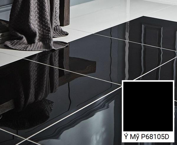 gạch lát nền 60x60 đen ý mỹ P68105D