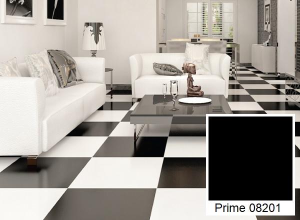 Mẫu gạch lát nền màu đen Prime 08201