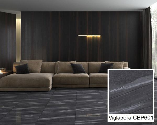 mẫu gạch lát nền 60x60 đen vân đá Viglacera CBP601
