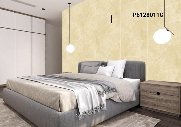 mẫu gạch ốp tường phòng ngủ đẹp vân đá