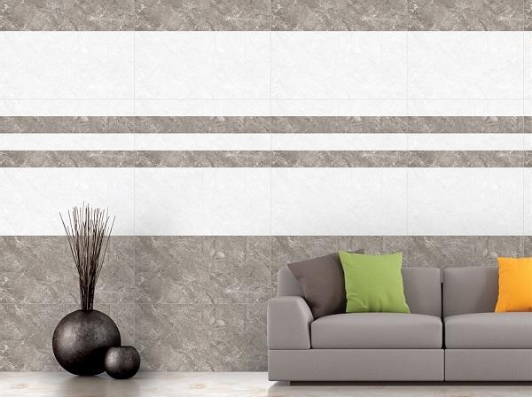 gạch ốp tường màu xám Ý Mỹ A4801 bao gồm 2 viên đậm - nhạt