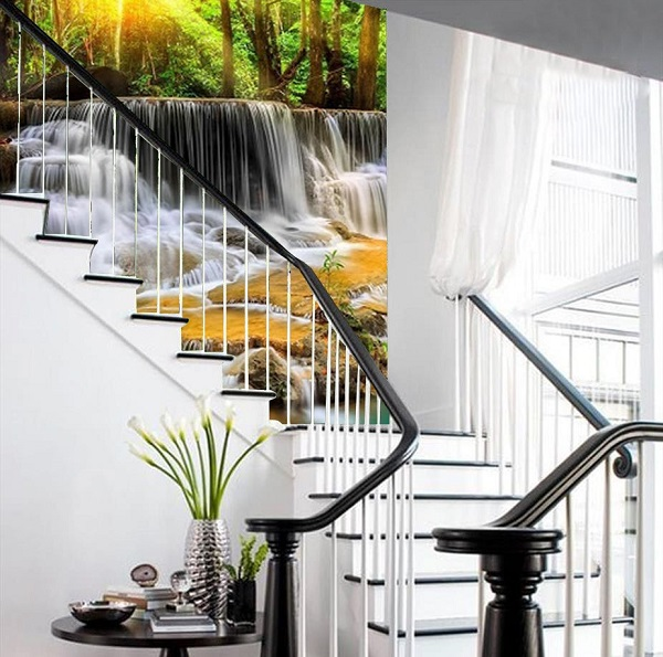 gạch 3d ốp trang trí cầu thang