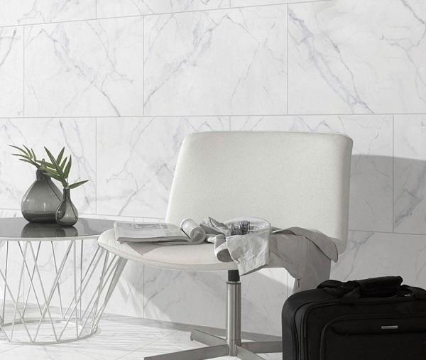 mẫu gạch ốp prime vân đá 08304 màu trắng hiện đại