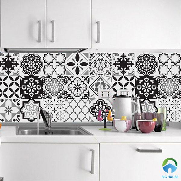 Gạch bông cổ điển đa họa tiết với 2 tông màu chủ đạo đen - trắng