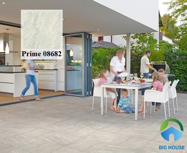 Mẫu gạch lát nền hiên nhà Prime 60x60 8262 có họa tiết vân đá sọc lạ mắt