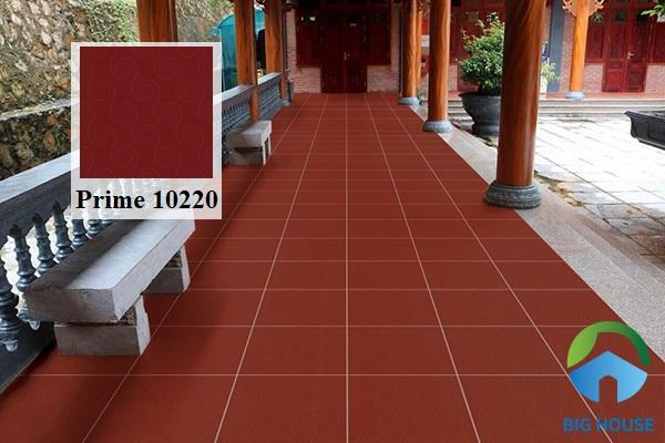 Mẫu gạch lát nền hiên nhà Prime 10220 điểm thêm họa tiết hoa văn mềm mại nổi bật