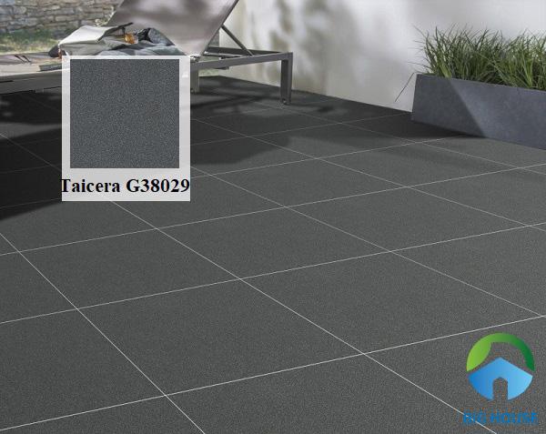 Mẫu gạch lát nền hiên nhà Taicera G38029 sở hữu tone màu xám đậm