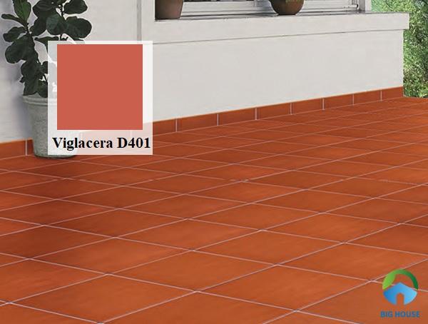 Mẫu gạch cotto Viglacera D401 gam màu đỏ tươi ấn tượng