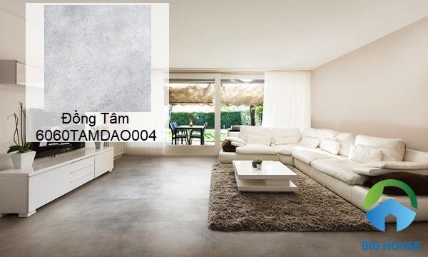 Mẫu gạch Đồng Tâm 6060TAMDAO004 lát nền giả bê tông