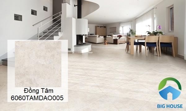 Gạch lát nền xi măng Đồng Tâm 6060TAMDAO005 mang phong cách đơn giản, nhẹ nhàng
