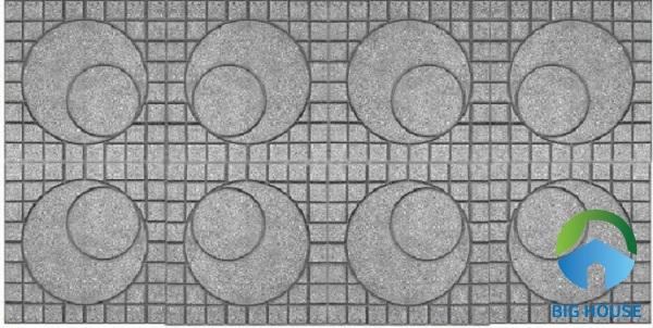 Mẫu gạch terrazzo họa tiết hình mặt trăng khuyết