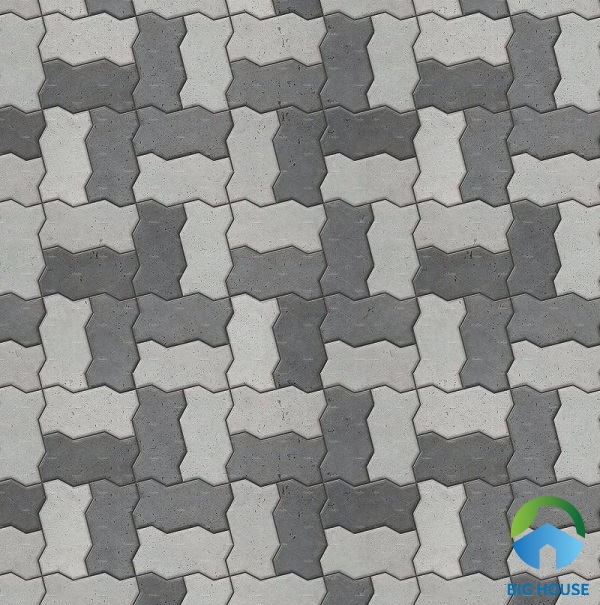 Map gạch ziczac với 2 gam màu đậm - nhạt đơn giản nhưng vẫn rất sinh động