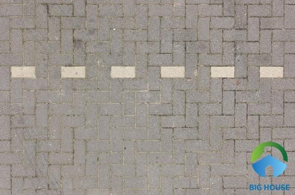 Map gạch vỉa hè bê tông đá xám