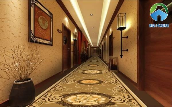 Gạch thảm tạo dấu ấn đặc biệt cho hành lang