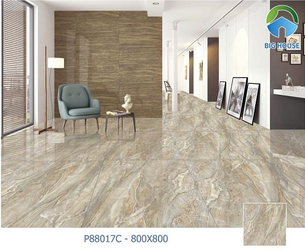 Gạch lát nền hành lang Ý Mỹ P88017C họa tiết vân đá marble