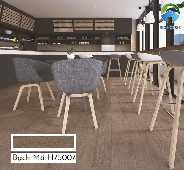 Gạch Bạch Mã H75007 là một trong những mẫu gạch vân gỗ nâu được người dùng rất quan tâm
