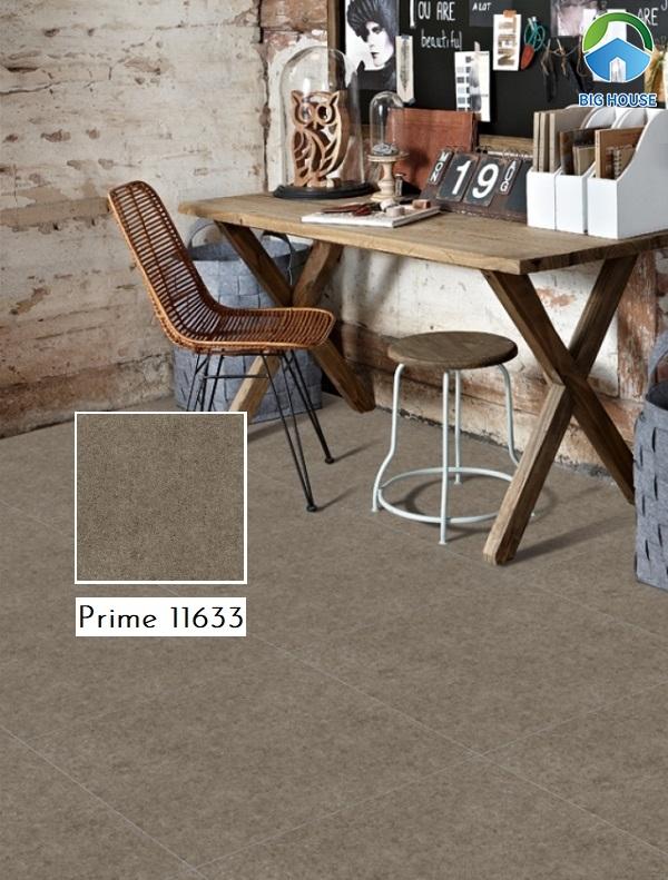 Mẫu gạch lát nền màu nâu xám Prime 11633 cho không gian cổ điển