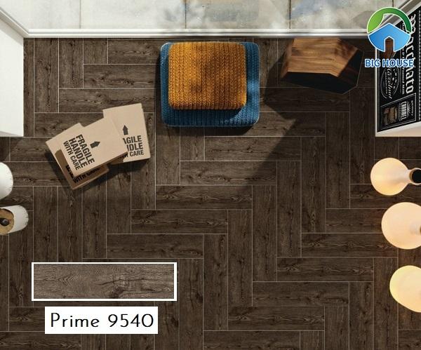 Mẫu gạch giả gỗ Prime 9540 gam màu nâu đậm