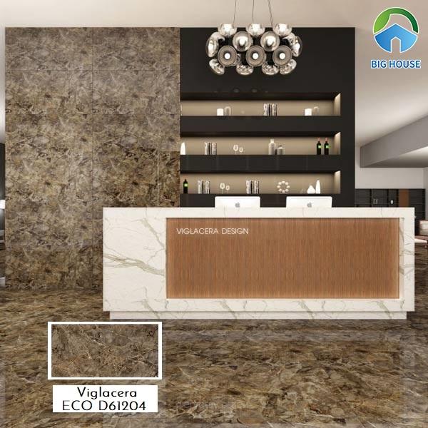 Gạch lát nền màu nâu Viglacera D61201 kích thước 60x120 phù hợp ốp lát tiền sảnh