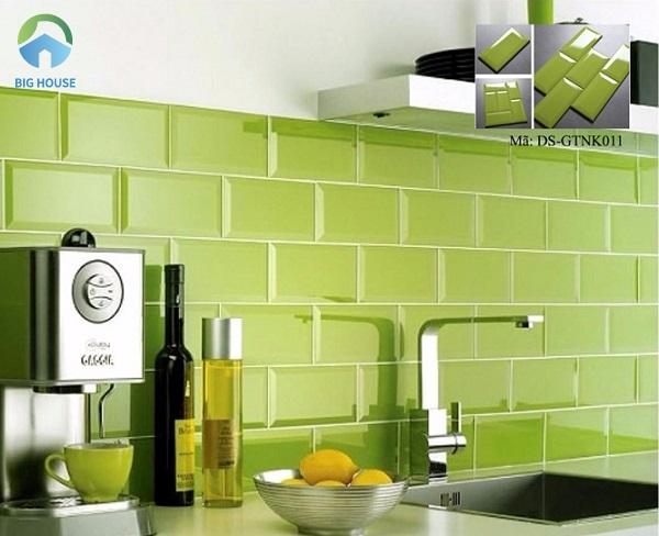 Mẫu gạch ốp tường màu xanh lá mạ DS-GTNK011 nổi bật và sinh động