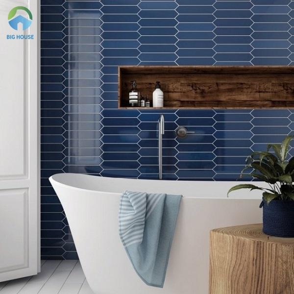Mẫu gạch ốp tường màu xanh M23208 tuy có tông màu đơn giản nhưng vẫn rất hiện đại