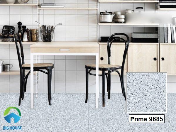 Mẫu gạch giả đá hoa cương Prime 9685 lát nền phòng bếp rất phù hợp