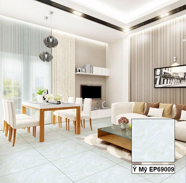 Phòng khách thật tươi mát với mẫu gạch Ý Mỹ EP69009 kích thước 60x60