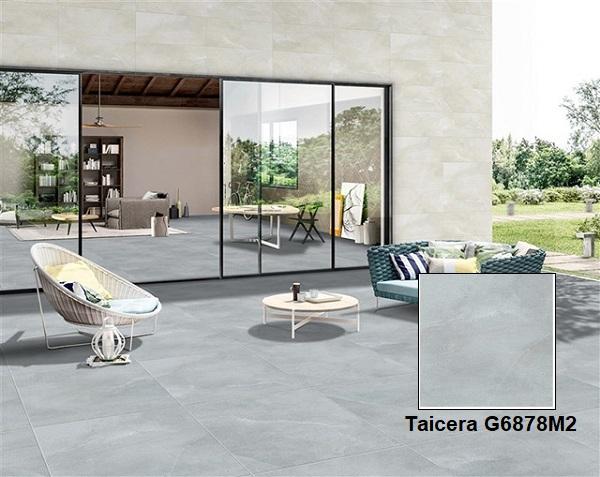 Mẫu gạch lát sân vườn màu xám Taicera G6878M2 men matt cho không gian sân vườn hiện đại