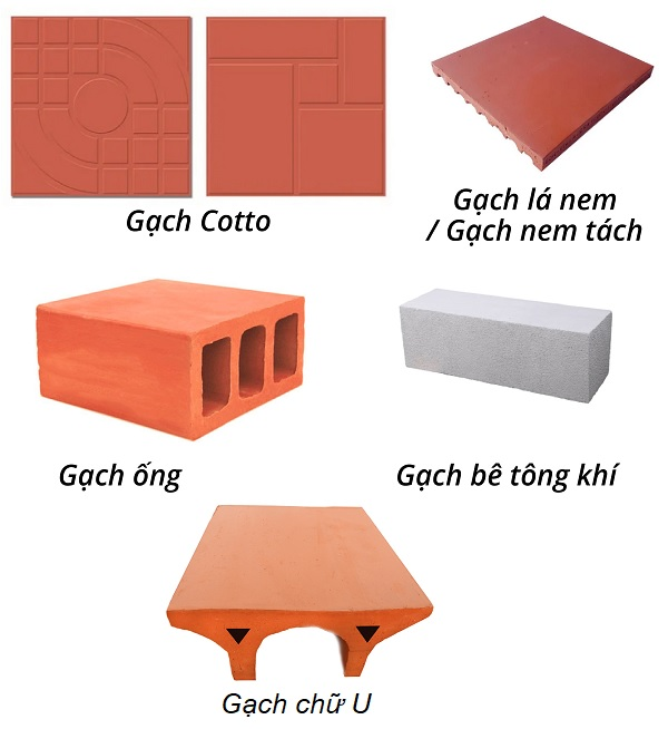 Các loại gạch chống nóng thông dụng hiện nay