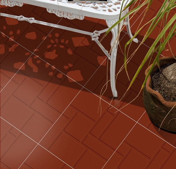 Gạch chống nóng cotto có bề mặt định hình, tráng men đỏ đẹp, chống trơn trượt hiệu quả